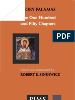 Saint Gregory Palamas, Pontifical Institute of Mediaeval Studies-The One Hundred and Fifty Chapters-Pontifical Institute of Mediaeval Studies (1988)