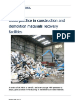 Good Practice in Construction and Demolition Materials Recovery Facilities1
