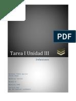 Tarea I Unidad III
