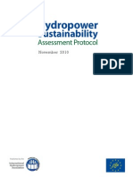 Hydropower Sustainability Assessment Protocol Web