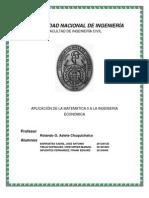 Aplicacion de Las Funciones Vectoriales a La Ingeneria Economica