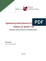 126462662 Organizarea Gestiuni Financiare La Spitalul Clinic Judetean Sfantul Spiridon Iasi