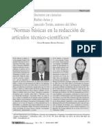 Normas Basicas en La Redaccion de Articulos Tecnico-cientificos