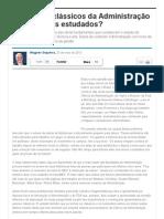 Por que os clássicos da Administração não são mais estudados_ - Artigos - Administração e Negócios - Administradores