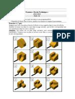Examen Dessin Technique 20122013 v2