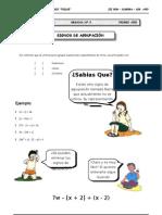 III BIM - 1er. Año - ALG - Guía 3 - Signos de Agrupación