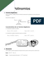 IV - 1er. Año - ALG - Guía 1 -  Polinomios I