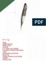 Digital Booklet - Feel
