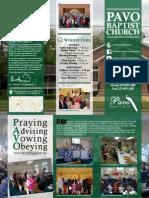 Pavo Baptist Church Brochure 2013