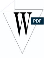 Print Letter W Banner