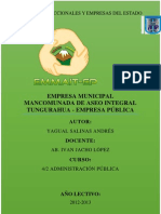 Empresa Municipal Mancomunada de Aseo Integral Tungurahua EMMAIT-EP