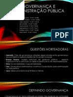 PDF SEMINÁRIO 1 - GOVERNANÇA E ADMINISTRAÇÃO PÚBLICA