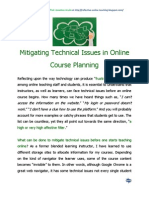 Mitigating Technical Issues in Online Course Planning
