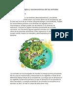 Importancia ecológica y socioeconómica de los animales