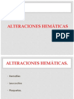 ALTERACIONES HEMÁTICAS