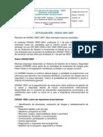 OHSAS 18001 2007 Doc Apoyo Sem2_octubre07