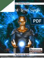 101 1st Level Spells PFRPG v3