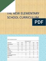 the new elementary school curriculum