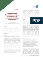 Diagnostico de Generadores en Linea y Fuera de Linea IIE