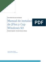 Manual de Instalación  JFlex Netbeans con CUP Windows