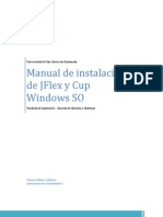 Manual de Instalación  JFlex Netbeans con CUP Windows