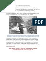 Los Puentes Colgantes Inca
