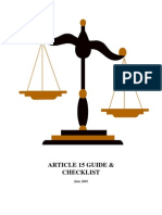 Article 15 Guide and Checklist