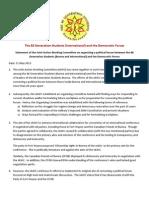 88GS International - Statement May 13-1