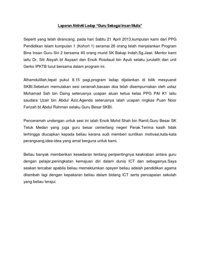 Laporan Aktiviti Gotong Royong