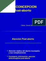 Planificacion Familiar en El Post Aborto