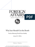 Why Iran Should Get a Bomb Waltz