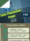 Period 4 Solar Voltaic Power Presentation Angelica Marlyn Luis Carlos Crisitan 2013