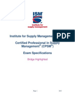 CPSM Exam Spec Bridge
