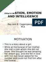 Motivation Emotion and Intelligence