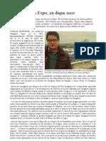 """""""La Expo, en dique seco"""" Por Carlos Quiñones"""