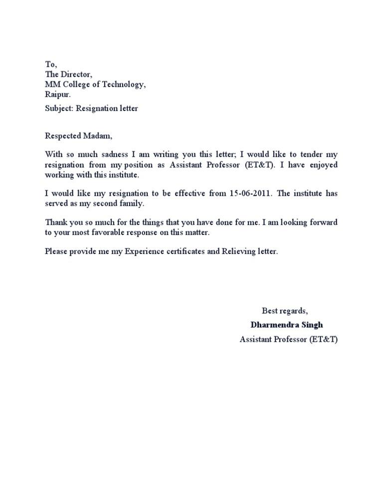 Tender My Resignation Letter from imgv2-2-f.scribdassets.com