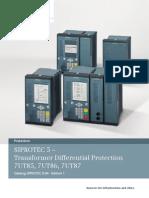 SIPROTEC 5 Transformerdifferentialprotection En