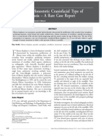 Case Report a Variant Monostotic Craniofacial