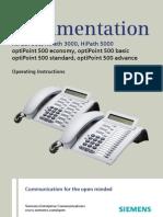 OptiPoint 500 HP500-HP3000-HP5000