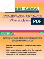 Operation and Maintenance for Village Water Supply