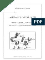 A Scarlatti - Sonata IX La minore per flauto ,2 violini e basso 1) Score