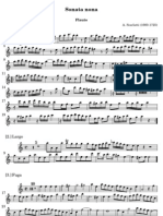 A Scarlatti - Sonata IX La minore per flauto,2 violini e basso 2) Flauto