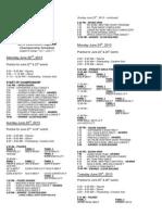 2013 SW Regional Championships Schedule