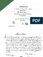 F.M.Veracini - 12 Sonate per  flauto e basso - Fac-Simile