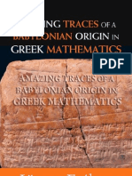 106782752 Amazing Traces of a Babylonian Origins in Greek Math