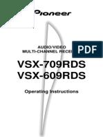 Pioneer VSX 609 RDS Manual