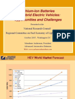 Lithium-Ion Batteries for Hybrid Electric Vehicles - Opportunities and Challenges