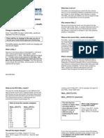 HbA1c Person Leaflet 0509