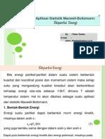 95814998 Aplikasi Statistik Maxwell Boltzmann Ekipartisi Energi