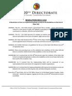 XU-CSG 20th Directorate Resolution 0013-1314
